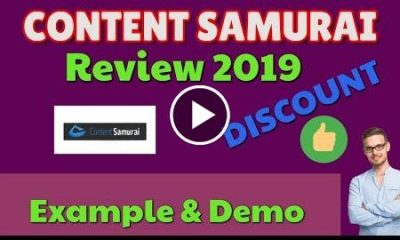 Content Samurai Review 2019 Discount Example & Demo