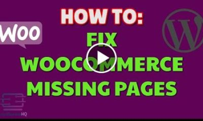 Fix Woocommerce missing default pages  WordPress