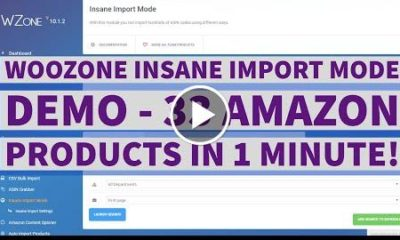 Woozone (WZone) Insane Import Mode Demo - 33 Products in 1 Minute