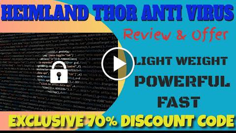 Heimland Thor Antivirus Review and Discount - Best, Lightweight Antivirus