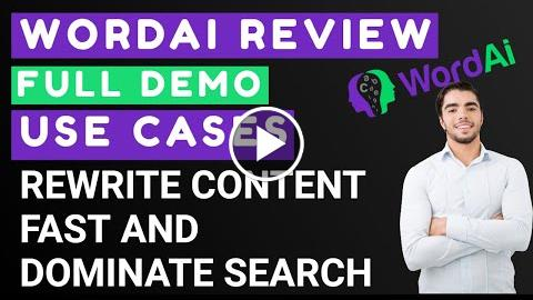 WordAI Review & Demo Fast Content Creation and Rewriting with AI